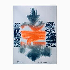 Théo Kerg , Signes, 1971 , Original Lithograph, Signed