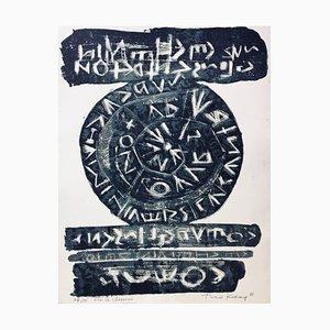 Théo Kerg , Sur Ce Chemin, 1966 , Original Lithograph, Signed