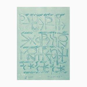 Théo Kerg , ''r / E / M'' , 1971 , Original Lithograph, Signed