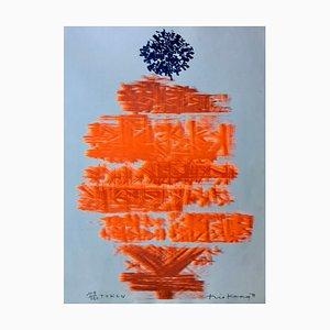 Théo Kerg, 't + K + N' ', 1971, Originale Lithographie, Signiert