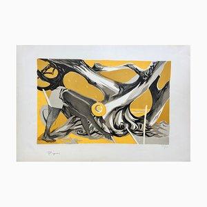 Edouard Pignon , L'olivier, 1950 , Signed Lithograph