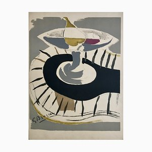 Georges Braque , Fruit Bowl, 1952 , Original Signed Lithograph