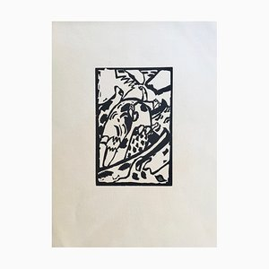 Vassily Kandinsky (after) , Improvisation, 1913 , Signed Woodcut