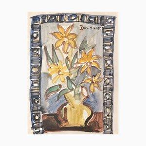 Daniel Dalmbert , Bouquet,1954 , Aquarelle , signed