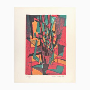 Pierre Dmitrienko , ''saisons I'', 1957 , Original Signed Lithograph