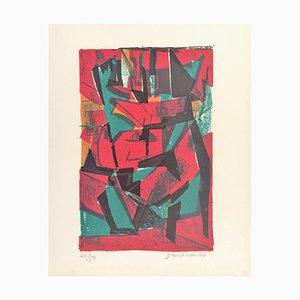 Pierre Dmitrienko , ''saisons Ii'' , 1957 , Original Lithograph, Signed
