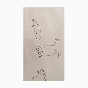 Daniel Dezeuze , Untitled, 2012 , Original Signed Drawing