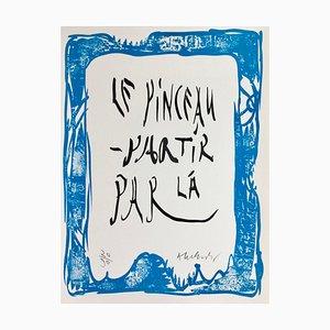 Pierre Alechinsky , Words, 2007, Original Signed Lithograph