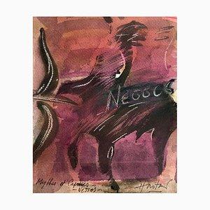 Hastaire, Nessos Iii, 1993, signierte gemischte Medien