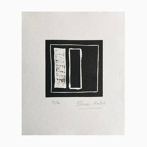 Etienne Martin , Cadran Natal I, 1990 , Linogravure original signature Au Crayon