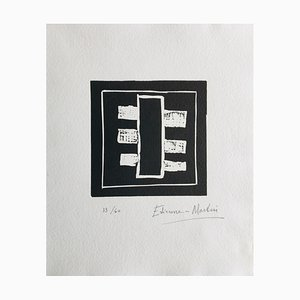 Etienne Martin, Cadran Natal II, 1990, originaler Signatur Au Crayon von Linogravure
