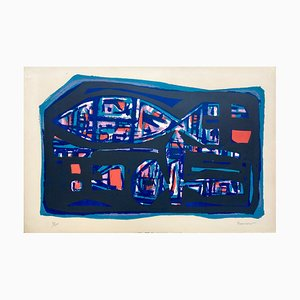 Alfred Manessier , Poisson, 1950 , Original Lithograph, Signed