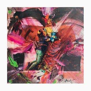 Hastaire , Roméo Et Juliette Xiv, 2009 , Mixed Medium Sur Toile , signed