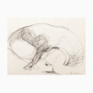Camille Hilaire , Margot, 1980, Signed Drawing
