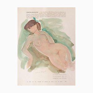 Acquarello, Simon-Auguste, Nude, 1954