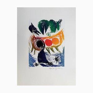 Carl-Henning Pedersen, Living Bird II, 1995, Etching
