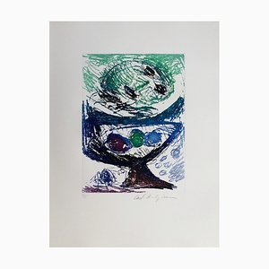 Carl-Henning Pedersen, Living Bird V, 1995, Etching