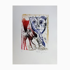 Acquaforte Carl-Henning Pedersen, Living Bird VII, 1995