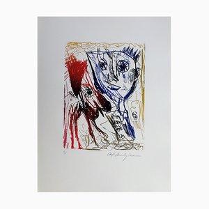 Carl-Henning Pedersen, Lebender Vogel VII, 1995, Radierung
