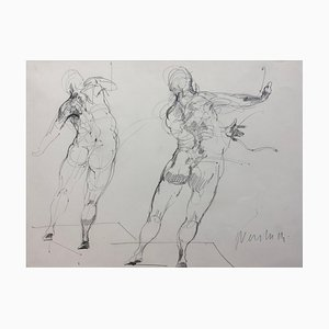 Claude Weisbuch, Motion Study, 1995, Drawing