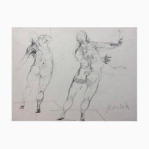 Claude Weisbuch, Motion Study, 1995, Zeichnung