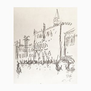 André Hambourg, the Doge''s Palace, Venice, 1957, Drawing