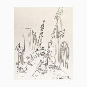 André Hambourg, Canal in Venice, 1958, Drawing