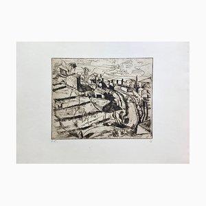 Etienne Cournault, Around Grasse, 1927, Etching