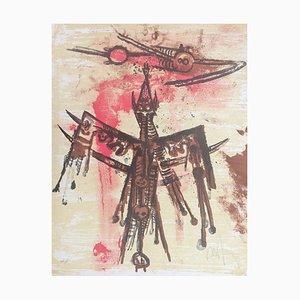 Wifredo Lam, der Steinkreis, 1970, Lithographie