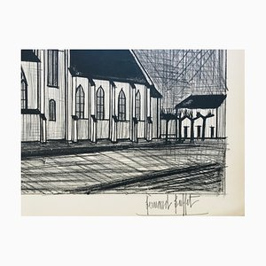 Bernard Buffet, Church, 1954, Lithograph