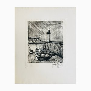 Bernard Buffet, the Lighthouse, 1958, Etching