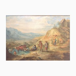A. Martins, Peasant Scene, Second half of 17th Century, Oil on Panel