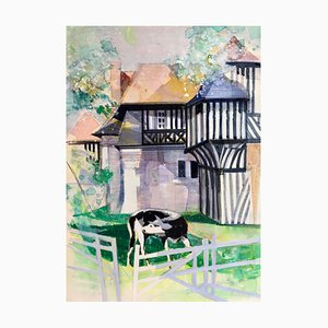 Camille Hilaire, Norman House, 1975, Watercolor