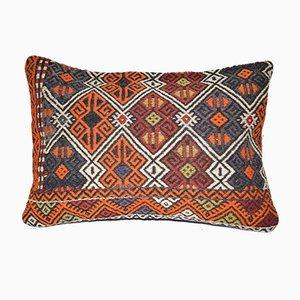 Handwoven Kilim Lumbar Cushion Cover