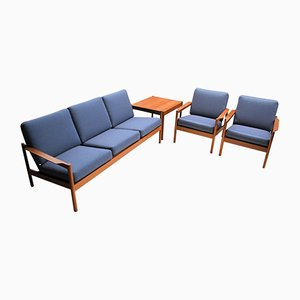 Danish Living Room Set from Magnus Olesen, 1960s, Set of 4