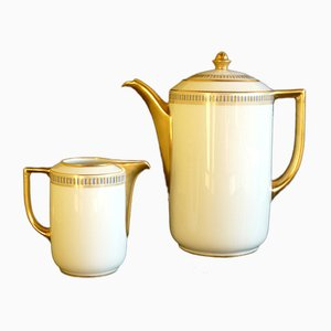 Art Deco Italian Porcelain Neoclassical Tea Set from Richard Ginori, 1920s, Set of 2