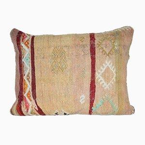 Vintage Large Turkish Lumbar Kilim Cushion Cover