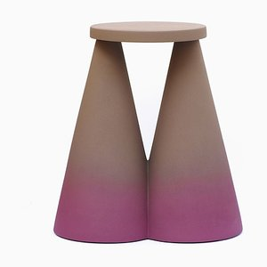 Isola Purple Ceramic Side Table from Portego