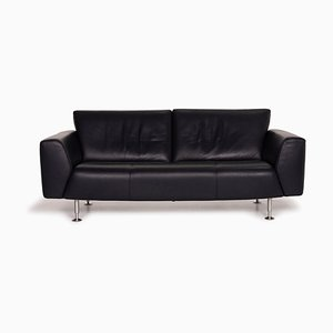 Dark Blue Leather 2-Seat Sofa from Rolf Benz