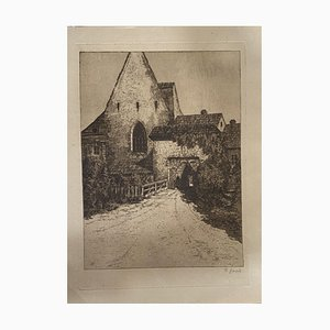 Country House, 19th Century, Etching