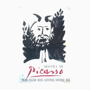 after Pablo Picasso, Faun, 1953 Picasso Exhibition in Milan, Vintage Poster