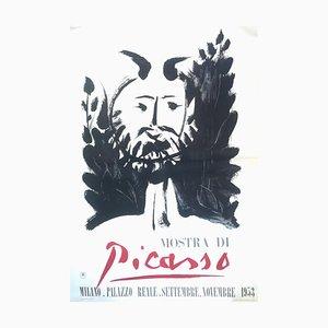 nach Pablo Picasso, Faun, 1953 Picasso Ausstellung in Mailand, Vintage Poster