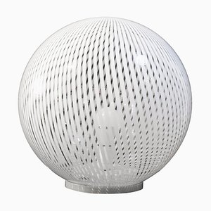 Vintage Tessuto Spherical Glass Table Lamp from Venini, Italy, 1970s
