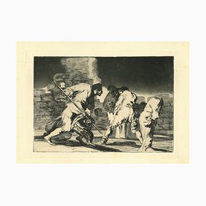 Francisco Goya, Disparate Furioso, 1875, Etching