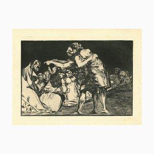Francisco Goya, Disparate Matrimonial, 1875, Etching