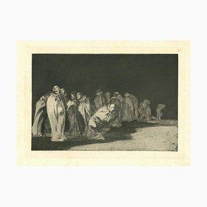 Francisco Goya, the Ensacados, 1875, Etching