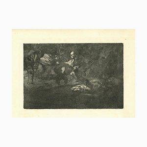Francisco Goya, Disparate Fúnebre, 1875, Etching
