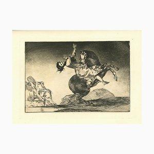 Francisco Goya, El Caballo Raptor, 1875, Etching