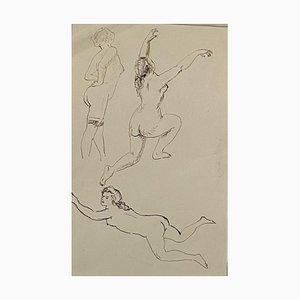 Marcel Vertès, Figures Studies, 20th Century, China Ink Drawing