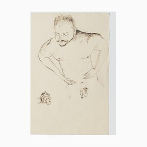 Figures Studies, 20th Century, China Ink Drawing